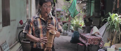 Bambusový saxofon