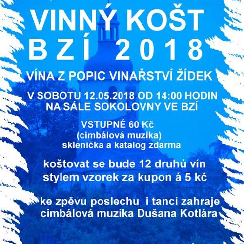 Vinný košt Bzí 2018