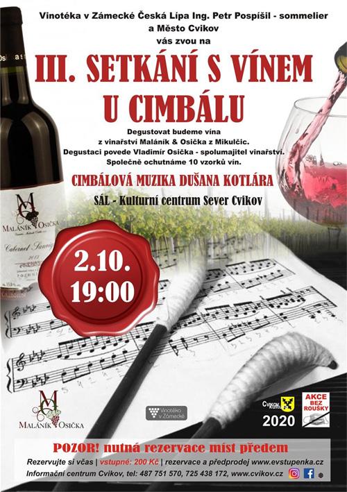 3. Setkání s vínem u cimbálu