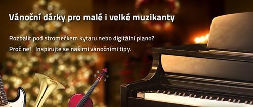 Vánoční dárky pro malé i velké muzikanty