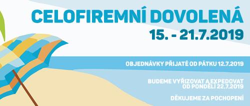 Hudebni-obchod.cz - dovolená léto 2019