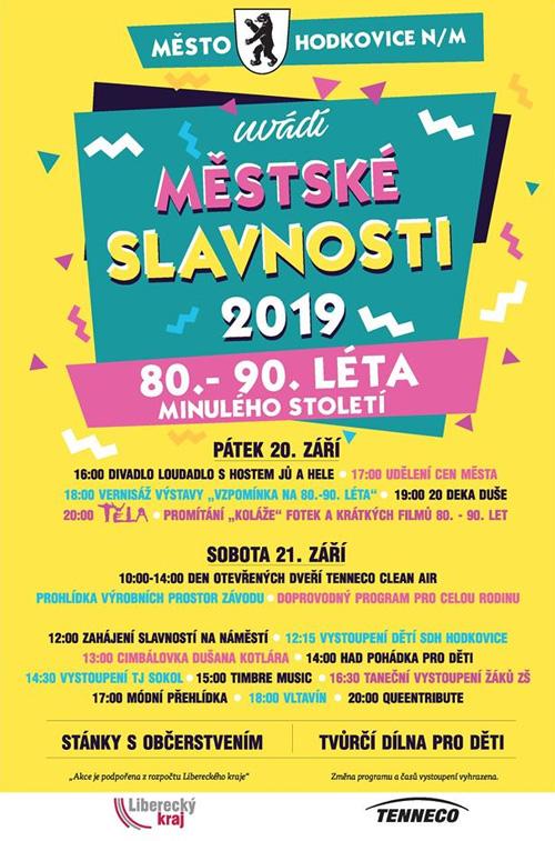 Městské slavnosti 2019 program