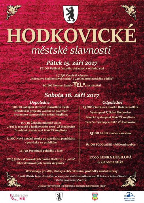 Hodkovické městské slavnosti 2017 - program