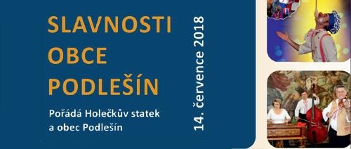 Slavnosti obce Podlešín 14.7.2018