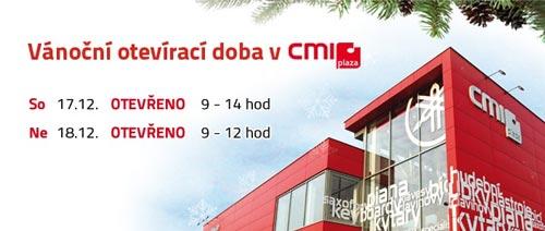 Vánoční otevírací doba v CMI plaza