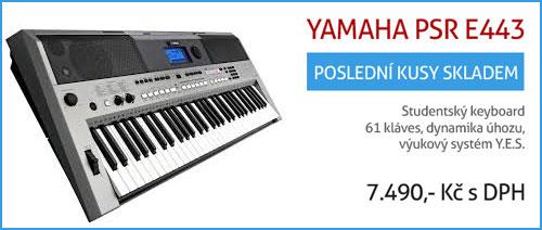Doprodej keyboardu Yamaha PSR E443